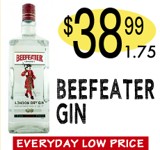 Beefeater gin 38.99 1.75